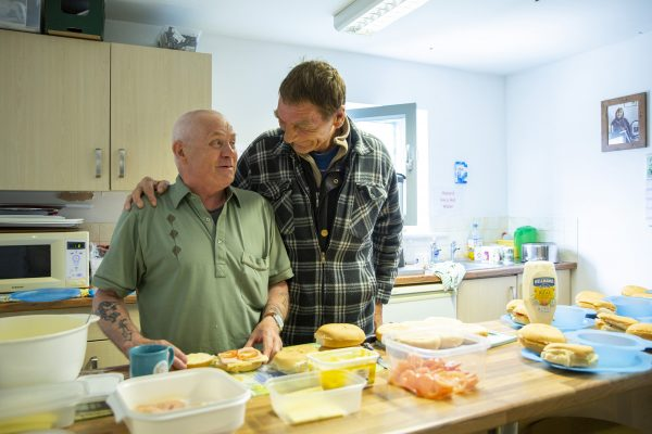 Drop in lunch club for local poepl who need support. Maundy Relief Trust, Accrington, Lancashire. (Photo by Andy Aitchison)